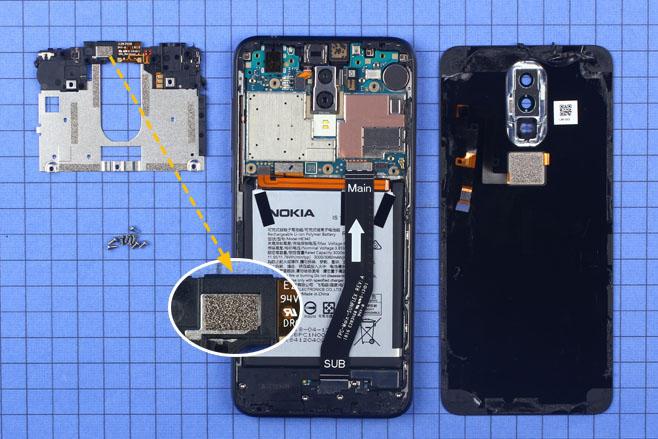 拆解诺基亚 x6手机:爱模切爱拆机