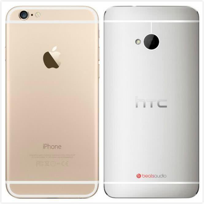 图:iPhone6和The New HTC One
