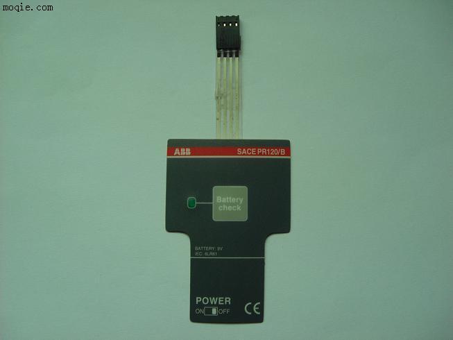 pcb或fpc型薄膜开关特点:电阻值极小,装led灯很稳定,按键反 应灵敏