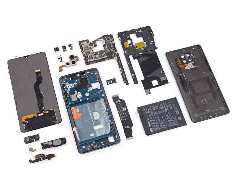 拆解华为 Mate20 X 5G手机:爱模切爱拆机